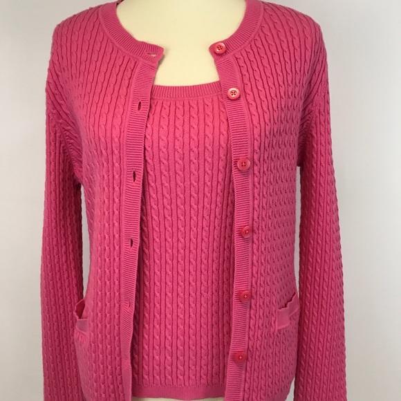 aa97a92a04d3e2 Jones New York Sweaters   Pink Knit Sweater Twinset   Poshmark